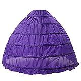 BEAUTELICATE Petticoat Reifrock Unterröcke Damen Lang Fur Brautkleid Hochzeitskleid Vintage Crinoline Underskirt.