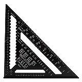 Wuudi 30,5cm nero profilo in alluminio ossidazione triangolo piastra 90gradi 45gradi in lega di alluminio ad alta precisione ad angolo retto righello triangolo righello strumento di misurazione