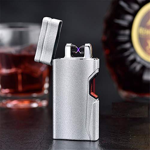 XXSZKAA Infrarot-Induktion Doppel-Lichtbogen-Feuerzeug/Laser-Sensor USB-Ladung Umwelt-Peeling Rauch/Boyfriend-Geschenk, B3