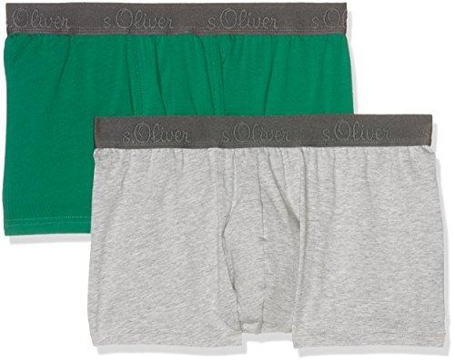 s.Oliver Boxershorts, Boxer Uomo Green & Grey Melange 11B9