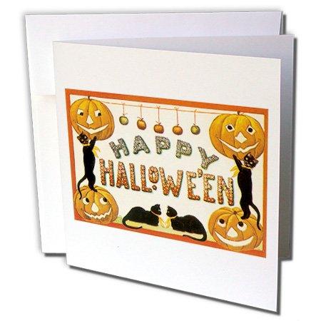Vintage Happy Halloween Jack O Laternen und schwarz-Katzen-Karten, 15,2x 15,2cm, Set 12(GC 126122_ 2)