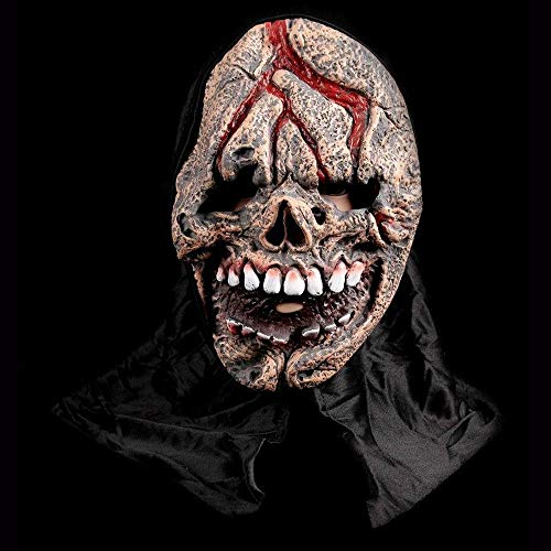 Männliche Kostüm Komisch - J-MASK Halloween Maske Horror Schädel Männliche Latex Kopfbedeckung Halloween Cosplay Maskerade Party Dekoration Requisiten E