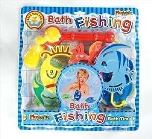 Jeu Pêche Bain Enfant Mousse Canne Pêche & Poisson Assorti Lot