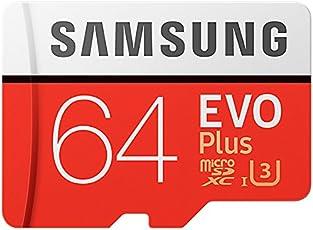 Samsung MB-MC64GA/AMZ - EVO Plus Micro SDXC da 64 GB fino a 100 MB/s, scheda di memoria U3 classe 10 (incluso adattatore SD)