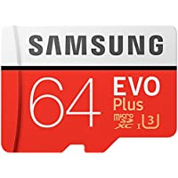 Samsung EVO Plus Micro SDXC 64GB up to 100MB / s, Memory Card (including SD Adapter) [Amazon Frustration Free Packaging]