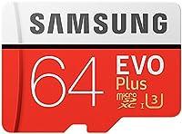 Support de stockage mobile du microSDXC avec une capacité de stockage de 65536 Mo. Etc. Convient pour les smartphones, les tablettes et les appareils photo numériques. Cette carte microSDXC de Samsung est supportée par des vitesses UHS-1 pour des per...