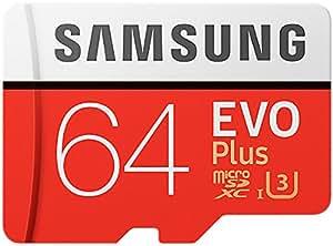 Samsung MB-MC64GA/EU EVO Plus Scheda MicroSD da 64 GB, UHS-I, Classe U3, fino a 100 MB/s di Lettura, 60 MB/s di Scrittura, Adattatore SD Incluso