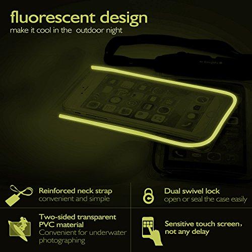 [Certifiée IPX8] Pochette étanche, iVoler Pochette Sac étanche Universel Waterproof Case Bag Housse Coque Etui pour Apple iPhone 7, 7 Plus,6s / 6, 6s Plus / 6 Plus, SE 5S 5C, Samsung Galaxy S8/S8+/S7/ Vert