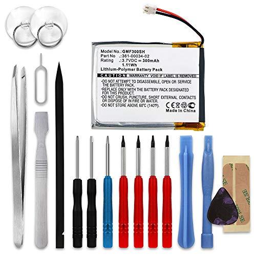 subtel® Qualitäts Akku kompatibel mit Garmin Fenix 3 / Fenix 3 HR, 361-00034-02 300mAh + Werkzeug-Set Ersatzakku Batterie