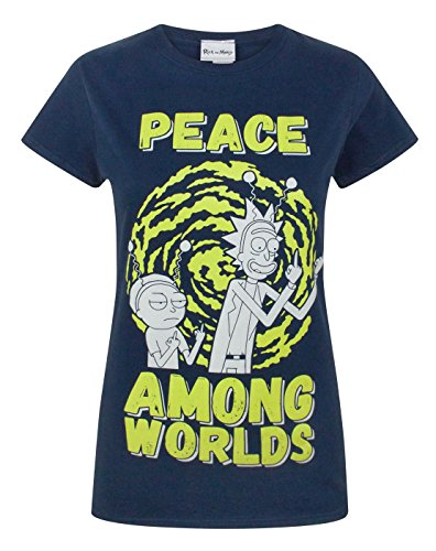 Rick and Morty Peace Among Worlds Women's T-Shirt (XXL) - Shirt Swim Adult