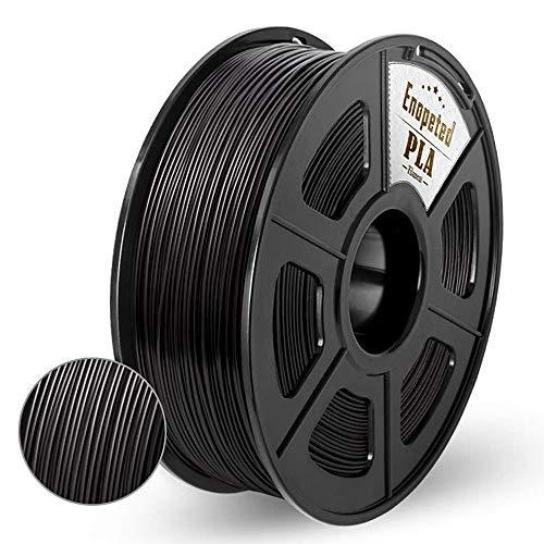 Enotepad PLA 3D Printer Filament,PLA Filament 1.75mm,Dimensional Accuracy 1.75±0.02 mm,Compatible for most 3D Printer/Pen,Black PLA 1KG Spool
