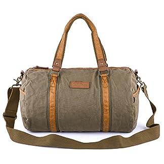 Gootium Canvas Weekend Travel Duffle–Bolsa de hombro–44cm–40L, Militar Verde 28L, L