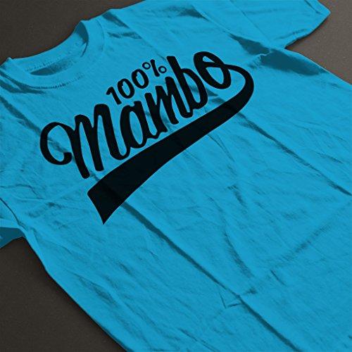 Mambo Coke Style Logo Black Text Women's T-Shirt Sapphire