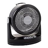 Iris Ohyama ventilateur silencieux de bureau - Woozoo - HD15N, plastique, noir, 34 W, 15m², 24,1 x 17,5 x 26,6 cm