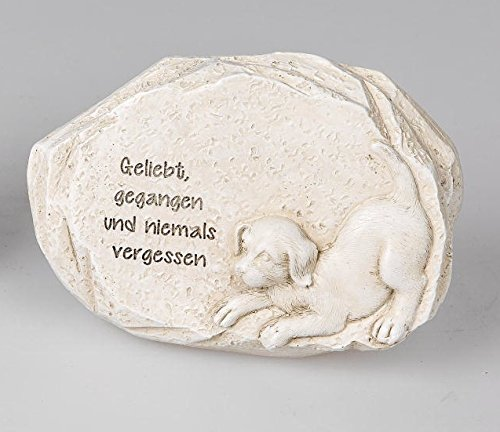 formano Gedenkstein Hund Grabschmuck Grabdeko mit Spruch, 12 cm