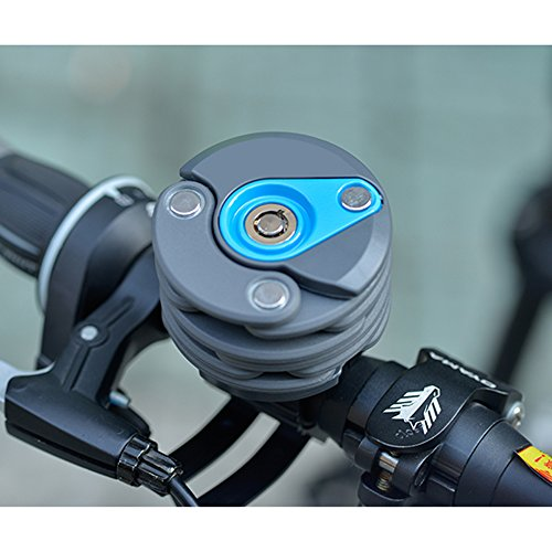 Fahrradschloss , Fozela Diebstahlschutz Fahrrad Faltschloss Kettenschloss Radschloss Mit 3 Tasten Blue