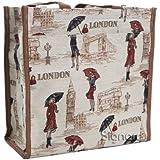 Signare Womens Fashion Tapestry Shopper Bag Shoulder Bag in Miss London Design