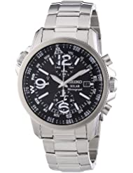 Seiko Herren-Armbanduhr Chronograph Quarz Edelstahl SSC075P1