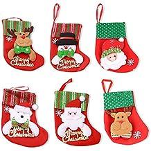 Hosaire Bolsas de caramelo Bolsa de Navidad en regalo de caramelo Regalo de chocolate de galleta para ni/ño Botas de Navidad Patr/ón Bolsa Decoraci/ón de fiesta de Navidad Colgar en el /árbol o poner dentro Esperando medianoche