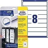 Avery L6060REV-20 - Etichette universali, 34 x 192 mm, 20 fogli per un totale di 160 etichette, colore: Bianco
