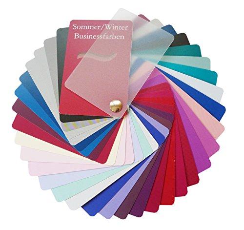 farbkarte sommertyp Farbpass Business Sommer/Winter Mischtyp (cool Summer/Winter) als Fächer mit 34 typgechten Farben zur Farbanalyse, Farbberatung