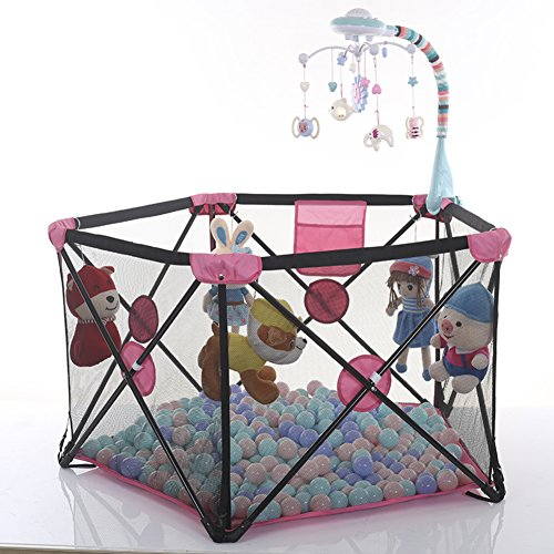 SL&ZX Laufställe für Kinder,Haus Falten Baby laufgitter Zaun sicher Crawl laufstall Indoor Zaun-B