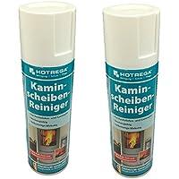 2 X Hotrega H130907 Kaminscheiben-Reiniger, Profi-Reiniger zur rückstandsfreien Beseitigung hartnäckigster Verschmutzungen