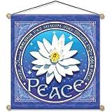 "15"" X 15"" Lotus of Peace Mandala Meditation Banner"