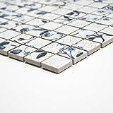 Mosaikfliesen Fliesen Mosaik Küche Bad WC Wohnbereich Fliesenspiegel Qadrat Keramik Stawberry 6mm #365