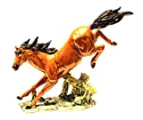 Home Decor big horse for office table and home feng shui vastu showpiece (Polyresin, Multicolor) (Size in cm - 33*9*29.5 (l*b*h))