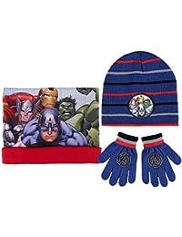 Conjunto gorro guantes braga cuello polar Los Vengadores Marvel