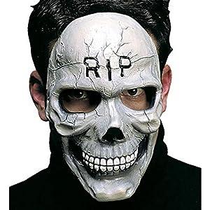 WIDMANN vd-wdm8292t Máscara Calavera Medio Viso, blanco, talla única