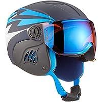 Alpina Niños Carat Le Visor HM Casco de esquí, Otoño-invierno, infantil, color Nightblue-Denim Matt, tamaño 54-58 cm