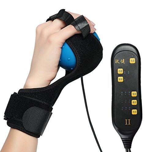 La chaleur de massage électrique à la main masseur chaleur Boule de massage à la main et les doigts la physiothérapie rééducation pour Spasmes Oromandibulaire