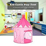 #10: Play House - Portable Foldable Luminous Cubby House Castle Play Tent with Carry Case - Your Baby Will Enjoy This Foldable Playhouse for Indoor & Outdoor Use by Shuban - Pink & White Color