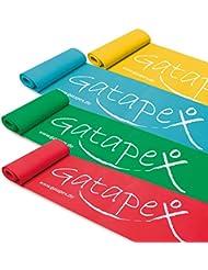 Neuheit: Gatapex Fitness-Band 2, 5m x 14, 5cm in 4 Stärken als Set Trainingsbänder, Gymnastikbänd