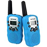 Retevis RT388 Kid Walkie Talkies UHF446MHz 8 Channels Flashlight Kids 2-Way Radio (Sky Blue,1 Pair)