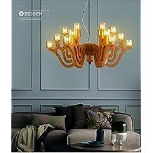 A&I-LÁMPARA Creativa lámpara madera nuevas americana madera chino de la sala de estar comedor dormitorio lámparas iluminación