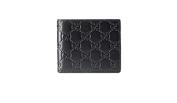 358576d1ef GUCCI - Portafoglio in pelle da Uomo GUCCISSIMA MARGAUX - nero: Amazon.it:  Abbigliamento