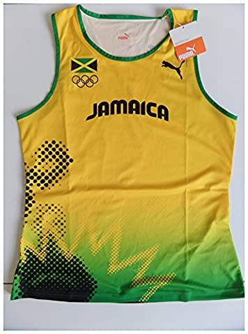PUMA PRO ELITE OLYMPIC COMPETITION RUNNING ATHLETE ISSUE SINGLET VEST WOMEN'S TRACK AND FIELD 507852-01 SIZE (L)