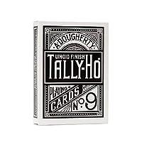 Tally Ho Fan Back Playing Cards - Royal Black