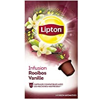 Lipton Infusion Rooibos Vanille 10 Capsules Compatibles Nespresso 30 g