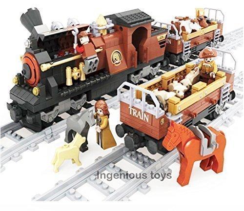 Tren Juego & 2 Vagones con Ganado Horseman Conductor & 10 piezas Vías #25813