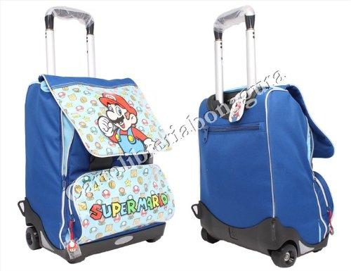 Super Mario Zaino Trolley Game Estensibile Azzurro Scuola 2013-2014