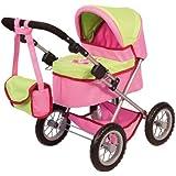 Bayer Design Doll Pram (Pink/ Green)