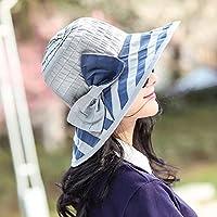 PLKOI La visita de la Sra. sombrero para el sol de verano elegante sombrero para el Sol Sun Beach Sombreros Sombreros plegables enfriador exterior Gris, tapa