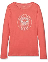 Roxy Gradual Awakening a Camiseta de Manga Larga, Niñas, Naranja (Spiced Coral Solid), 14/XL