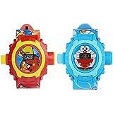 Vishwakarma Enterprises Angry Bird & Doraemon Projector Watch For Boys & Girls