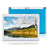 Android Tablet PC 10,1 Zoll,PADGENE 1280x800 Quad Core CPU Tablet PC Dual-SIM Slots USB/SD Dual Kamera 2MP und 5MP WiFi/3G Entsperrt GPS Telefonfunktion