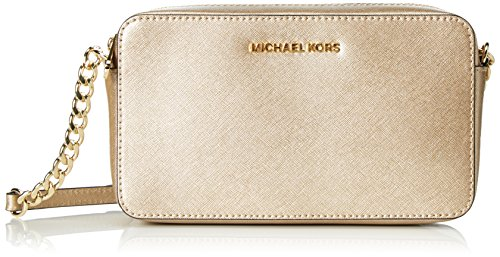 Michael Kors Crossbodies - Borse a tracolla Donna, Dorado (Pale Gold), 4.5x12.7x21.6 cm (W x H L)